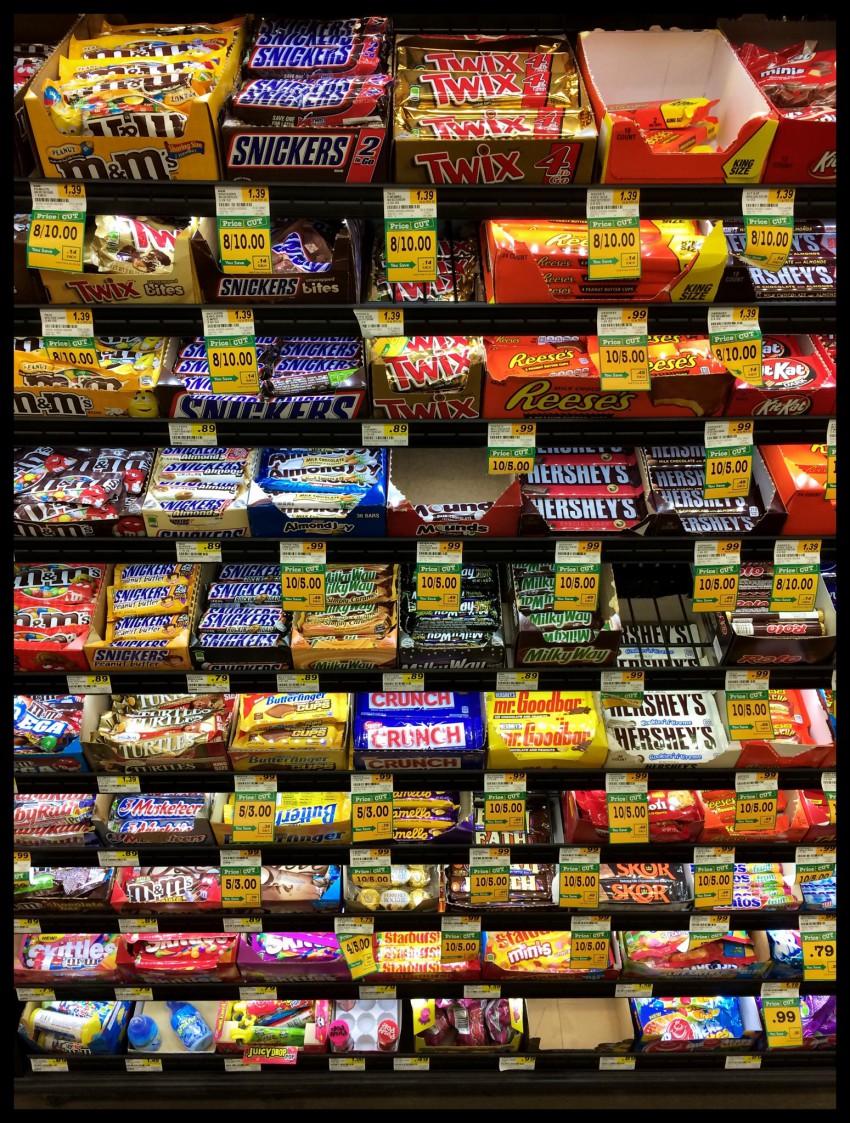 ledlit candy rack